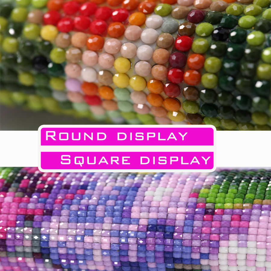 קומיקס/ליצן דיוקן 5D יהלומי צבע רקמה מלאכות רקמת סמלים מלא של יהלומי צבע צלב תפר צבע פסיפס