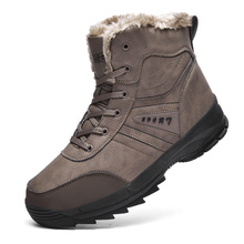 Buy 2019 Winter Warm Plush Fur Snow Boots Men Ankle Boot Quality Casual Motorcycle Boot Waterproof  Men's Boots Big Size 39-48 directly from merchant!