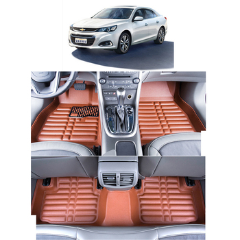 lsrtw2017 leather car floor mats for chevrolet malibu 2012 2013 2014 2015 2016 accessories auto styling interior carpet rug