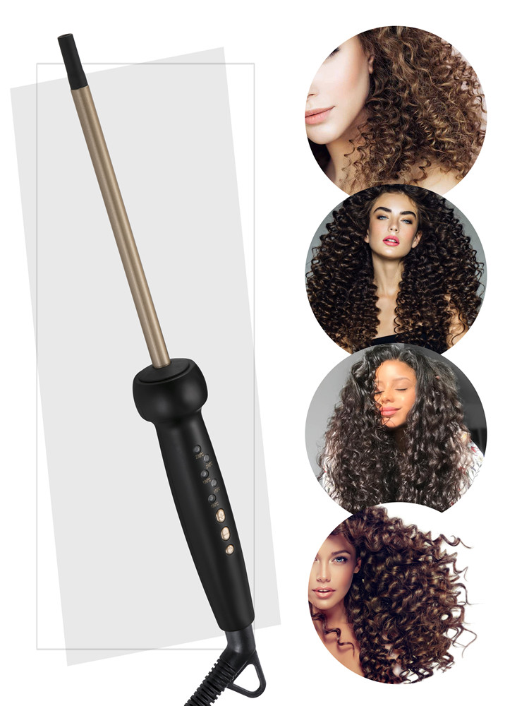 9mm Super Slim MCH Tight Curls Wand Ringlet Afro Curls Hair Curler Curling Iron Chopstick Curls