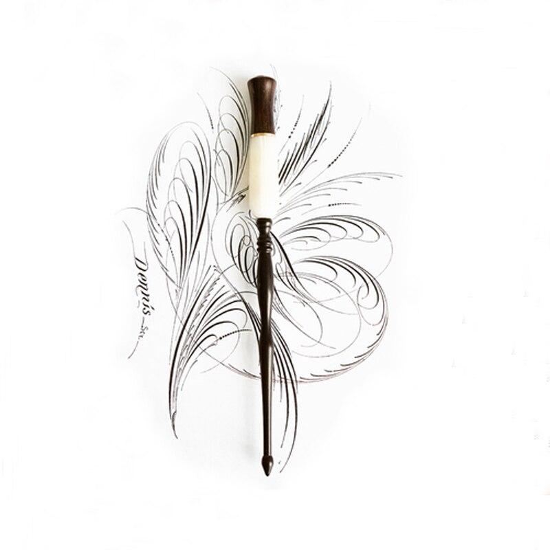 Nuevo titular de escritura de plumín recto inglés de lujo caligrafía placa de cobre Dip pluma titular hecho a mano de madera y resina Antigua fuente Di FTTH-Kit de herramientas de fibra óptica, 12 unidades por juego, medidor de potencia óptica de 70 ~ + 3dBm, pluma láser de 5km de fibra de FC-6S