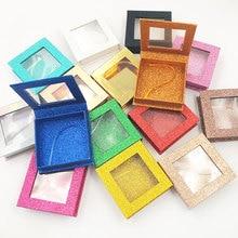 Iflovedekd Wholesale False Eyelashes Packages Custom Style Private Logo Lashes Boxes Square packing cassette window