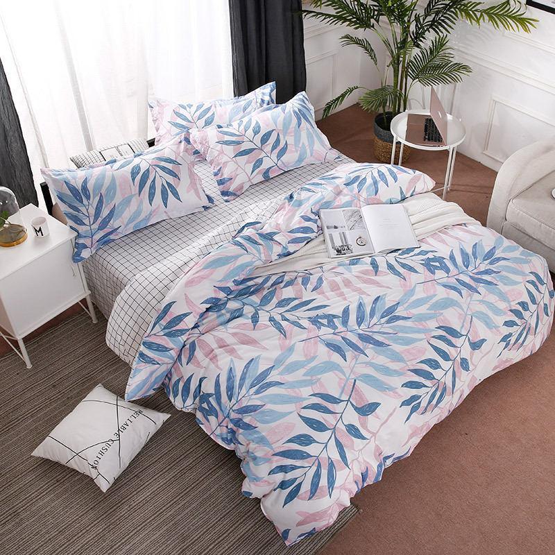 37Leaf 4pcs Girl Boy Kid Bed Cover Set Duvet Cover Adult Child Bed Sheets And Pillowcases Comforter Bedding Set 2TJ-61014