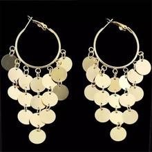 Women Female Vintage Long Big Dangle Drop Earrings Fashion Hyperbolic Tassel Metal Earrings Jewelry Wholesale-JR-W17