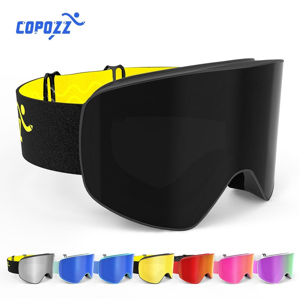 COPOZZ Brand Ski Goggles Men Women Double Layers Big Snowboard Goggles Anti-fog UV400 Skate Skiing Snowboard Goggles