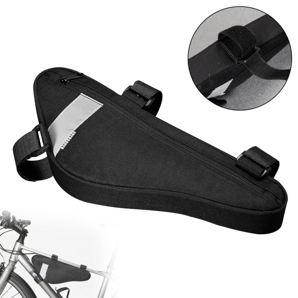 Waterproof Cycling <font><b>Bike</b></font> <font><b>Carrier</b></font> <font><b>Bag</b></font> Top Tube Front Frame Bicycle Triangle <font><b>Bag</b></font> Pouch Pannier image