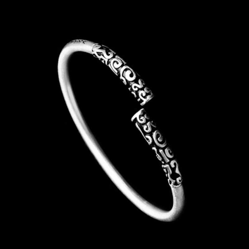 Mcllroy オープンカフブレスレット & バングル男性女性ステンレス鋼ブレスレットレトロビンテージユニセックスジュエリー Pulseras hombre 2019