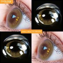 Ovolook 2pcs/пара красивых линзы Цвет ed для глаз крошечные