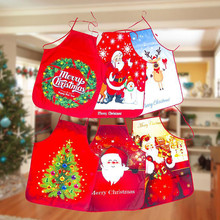 1 шт. красный новогодний фартук, передник из хлопка и льна, фартуки 60*80 см, нагрудники для взрослых, для дома, кухни, для приготовления пищи, выпечки, аксессуары для чистки
