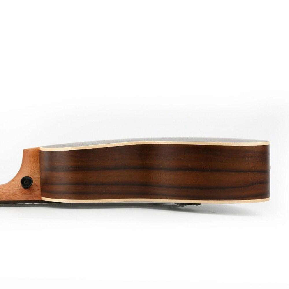 Haute qualité 23 pouces Concert ukulélé 4 AQUILA cordes hawaïen Mini pleine guitare en palissandre Uku guitare acoustique Ukelele UK2313 - 6