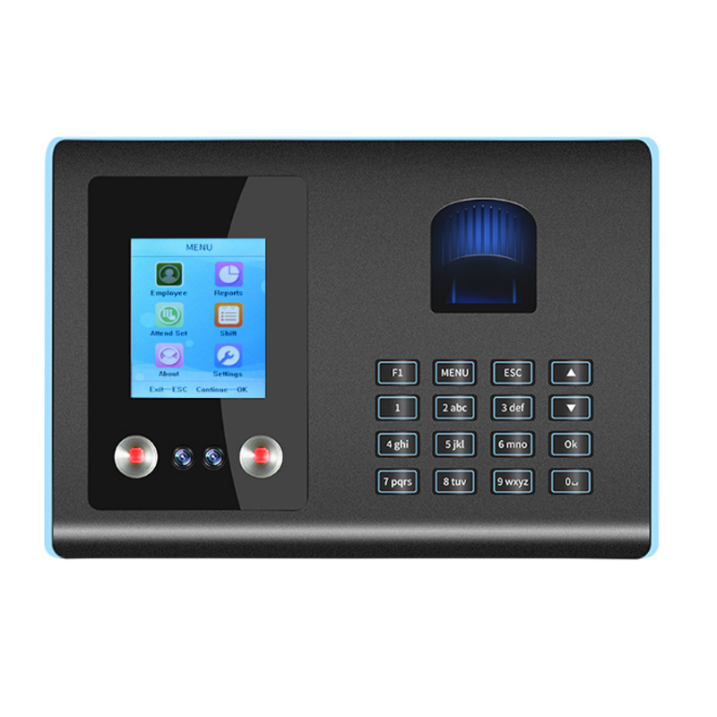 1Set Fingerprint Face Recognition Machine Chinese And English Employee Punch Card At Work Office Desktop Supplies