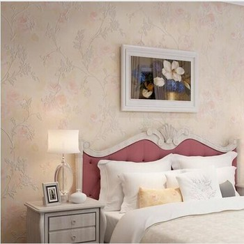 WELLYU The new American-style bedroom papel de parede para quarto elegant wild flower idyllic backdrop non-woven wallpaper