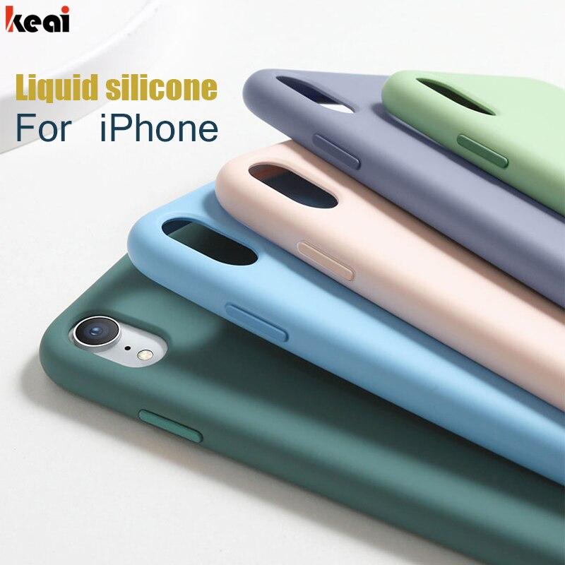 Роскошный жидкий силиконовый ударопрочный чехол для iPhone 11 Pro X XR XS MAX, мягкий чехол из ТПУ для iPhone 6 6s 7 8 Plus 5 5s SE, чехол