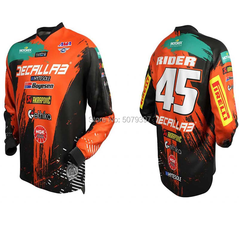 Enduro Motocross Jersey Mtb Downhill Jersey MX Cycling Mountain 2020 Bike DH Maillot Ciclismo Hombre Quick Drying  Jersey