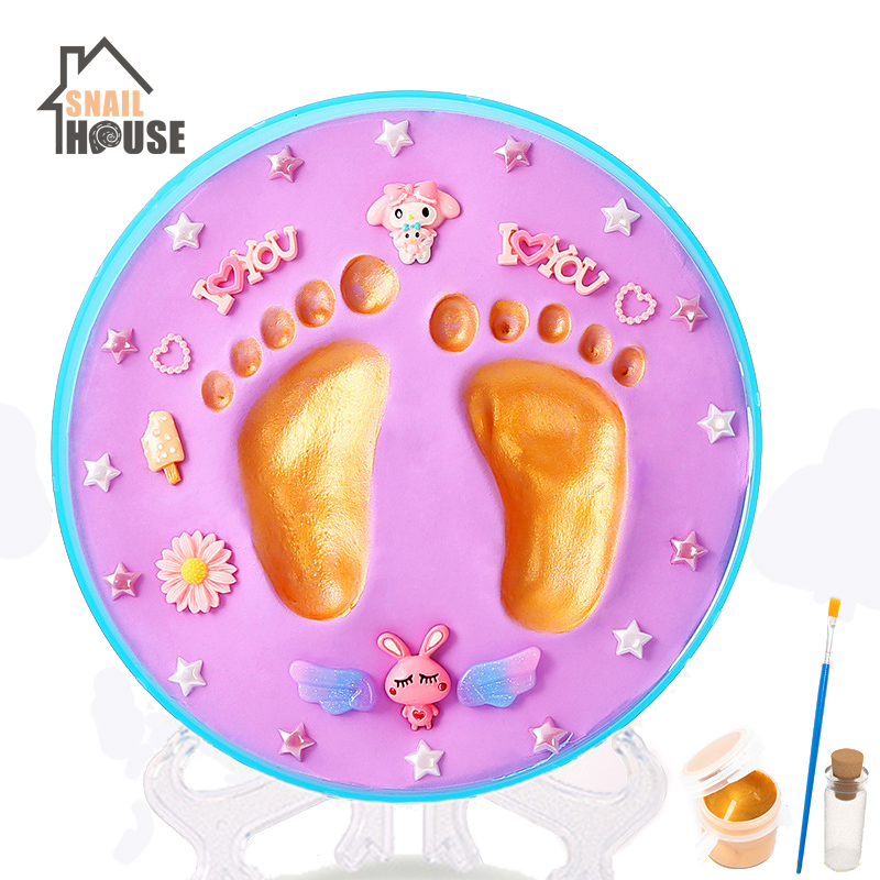 Snailhouse Baby Hand & Foot Print Imprint Kit Children Hand Footprints Mud Diy Baby Newborn Hundred Days Gift Year Old Souvenirs