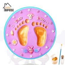 Snailhouse Baby Hand & Foot Print Imprint Kit Children Hand Footprints Mud Diy Baby Newborn Hundred Days Gift Year Old Souvenirs