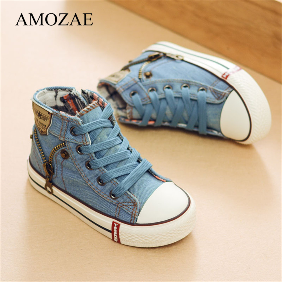 2021 Canvas Children Shoes Sport Breathable Boys Sneakers Brand Kids Shoes for Girls Jeans Denim Casual Child Flat Boots