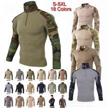 Мужские футболки для кемпинга, спорта на открытом воздухе, футболки, мужская одежда с длинным рукавом, для охоты, фитнеса, камуфляжная рубашка для охоты