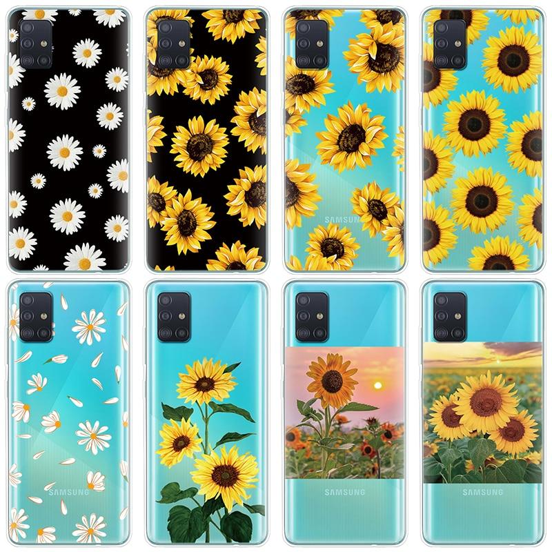 Daisy Sunflower Floral Phone Case For Samsung Galaxy A51 6.5\