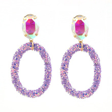 Glitter Sequins Resin Earrings For Woman Pendant Earrings Crystal Stone Earrings Wedding Party Jewelry Gifts