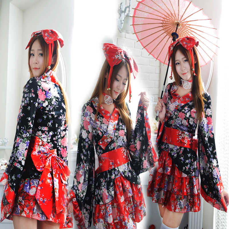 Mulheres Princesa Vestido Lolita Kawaii Meninas Kimono Sexy Trajes Cosplay Bonito Loli Saia de Moda Doce Vestido Desgaste Do Partido do Dia Das Bruxas