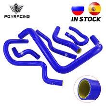 6 Pcs Silikon Kühler Kühlmittel Schlauch, silikon schlauch kit Für Honda CIVIC SOHC D15 D16 EG EK 92-00 blau und gelb PQY-LX1303C-QY