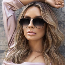 Sexy Lady Vintage Round Metal Sunglasses Fashion Brand Designer Pilot