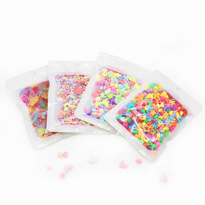 380pcs Beads Toys For Children Lacing Bracelets Girl Boy Gift Jewelry Macking Necklace Handmade Beaded Accessory Educational