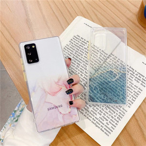 Image 3 - Transparent Marble Phone Case For Samsung Galaxy S21 Plus S20 FE 5G Note 20 Ultra A11 A12 A21s A31 A32 A51 A52 A71 A72 5G Cover
