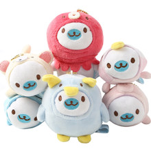 Cute Cartoon Sea Animal Plush Toy Keychain Cute Seal Sea Dog Dolphin Whale Penguin Octopus Stuffed Plush Toy Backpack Keychain(China)