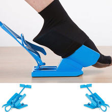 Grávida elder sock vestindo sapato chifre dispositivo slider fácil ligar/desligar sock kit de auxílio sapato chifre dispositivo sem flexão alongamento esforço