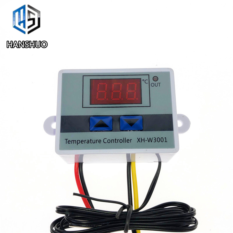 12V/ 24V/ 220V <font><b>W3001</b></font> Digital LED Temperature Controller 10A Thermostat Control Switch Probe <font><b>XH</b></font>-<font><b>W3001</b></font> image