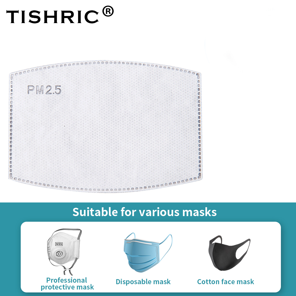 10/50/100 Pcs PM2.5 Adult Anti Dust Mask Protection N95 Filters Carboon Mouth Face Mask Filter Replacement Disposable Protection