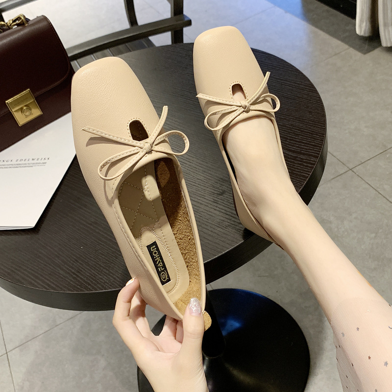 2019 Summer New Style Bow Slip-on Shoes Soft Bottom Women's Flat Keel Thin Shoes Korean-style Anti-slip Loafers Fashion