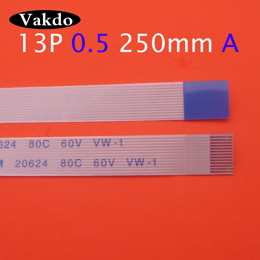 1pc/2pcs/3pcs 13pin FFC FPC Flat Flexible Cable 0.5mm Pitch 13 Pin A Forward Length 250mm 25cm Ribbon Flex Cable