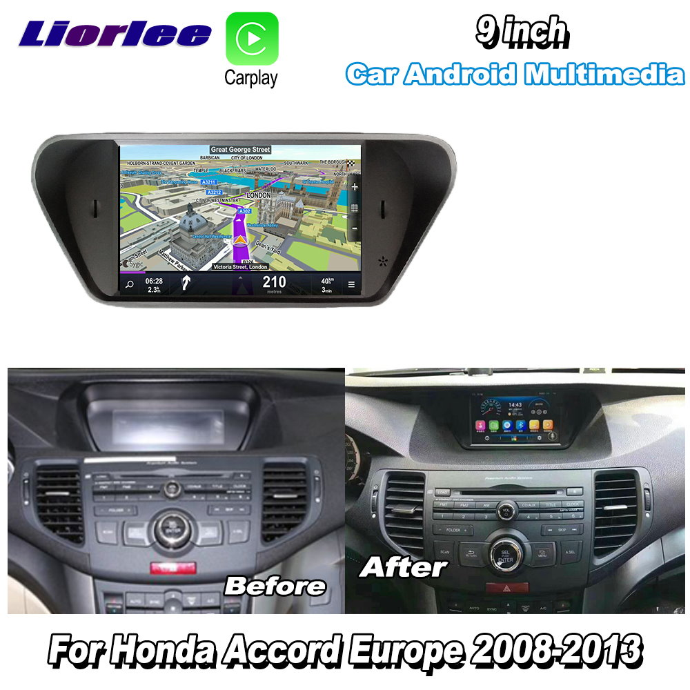 <font><b>Car</b></font> Radio Multimedia Player For Honda Accord 8 Europe 2008-2013 <font><b>Android</b></font> Video <font><b>Audio</b></font> Carplay GPS Navi maps Navigation image