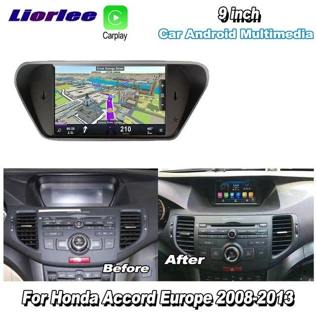 Radio Multimedia con GPS para coche, Radio con reproductor, navegador, navegador Navi, con Android y reproducción de vídeo, para Honda Accord 8, Europa, 2007 2012