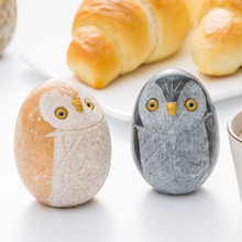 five blessings Owl creative Ornament Animal Statue home decoration accessories nordic style stone figurines Christmas gift