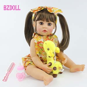 55cm de corpo inteiro silicone reborn bebê boneca brinquedo realista 22 polegada vinil vivo bebês vestir-se princesa criança menina presente de aniversário