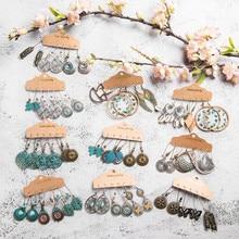 Múltiples pendientes colgantes étnicos bohemios para mujer moda femenina 2019 conjuntos de pendientes para mujer adornos accesorios de joyería