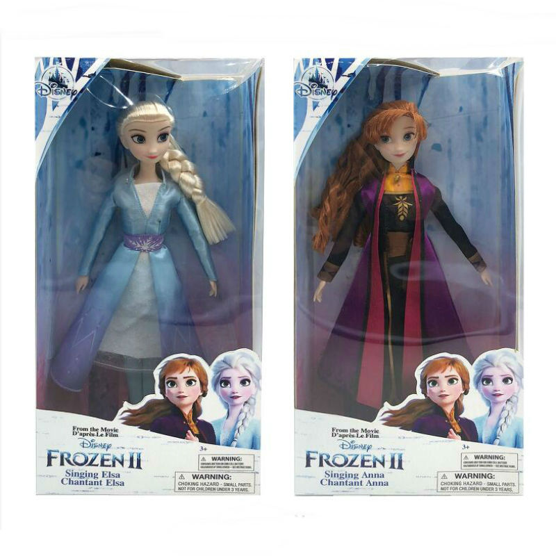 2020 NEW High Quality 1pc 28cm Disney Frozen 2 Collection Dolls Anna Elsa Accessory Children Toy Birthday Gift With Original Box