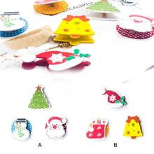 3PCS Lovely Christmas Wooden Clips Innovative Painted Cartoon Clip Decoration Ornament