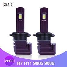 2Pcs Mini LED H7 H11 9005 9006 1860 CSP Chip Bulb Canbus Car Headlight 72W 10000LM 6000K 24V Led Fog Lamp 12V automotivo