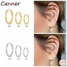 CANNNER-pendientes de aro de Plata de Ley 925 para mujer y hombre, aretes pequeños de hueso del oído, orejera pequeña, Aro para la oreja de 6/8/10mm, 3 uds.