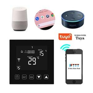 16A WIFI термостат умный комнатный термостат Электрический напольный нагревательный температурный контроллер Голосовая работа с Alexa Google Home Tuya