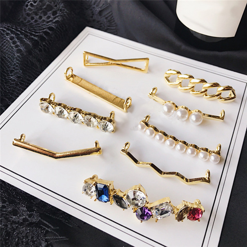 Shoes Accessories Gifts Fashion Mini Alloy + Acrylic Shoe Clips Shoelaces Clips Decorations Charms Faux Pearl Rhinestone