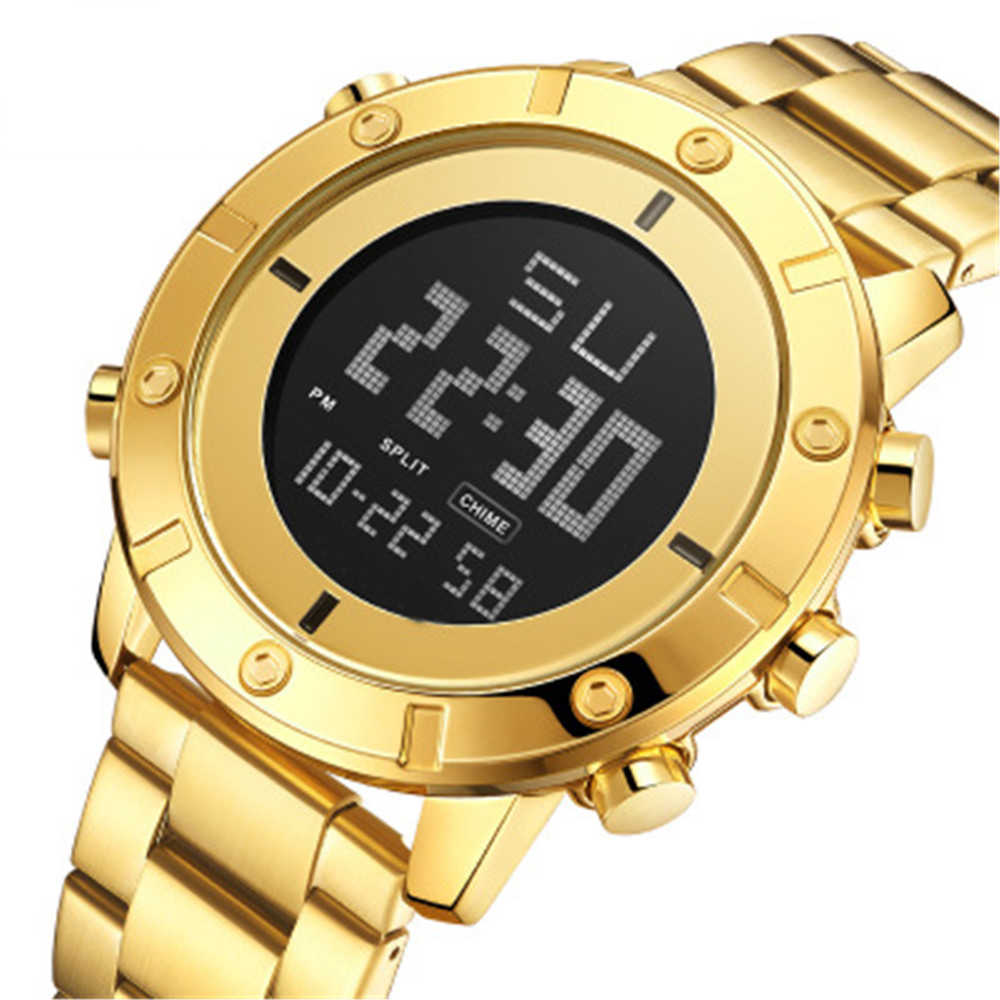 Mới Nam Màn Hình LED Hiển Thị Đa Chức Năng Đồng Hồ Báo Thức Chronograph Thể Thao Chống Thấm Nước Đồng Hồ Đồng Hồ Thể Thao Nữ Smart Watch