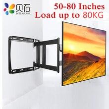 BEISHI tam hareket TV duvar rafı ayağı uygun büyük boy 32 80 inç LED LCD ekranlar yük ila 80kg VESA 600*400mm