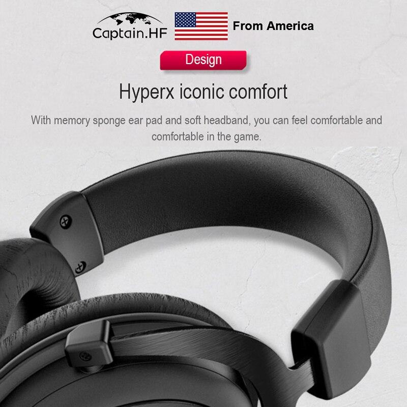 Нам капитан про гипер X облако ключевых игровую гарнитуру для ПК, ноутбуки, игровые консоли, наушники для игроков, киберспорт