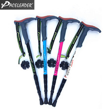 Adjustable Walking Stick for Hiking Trekking Trail Sticks Pole Cane Outdoor Ultralight